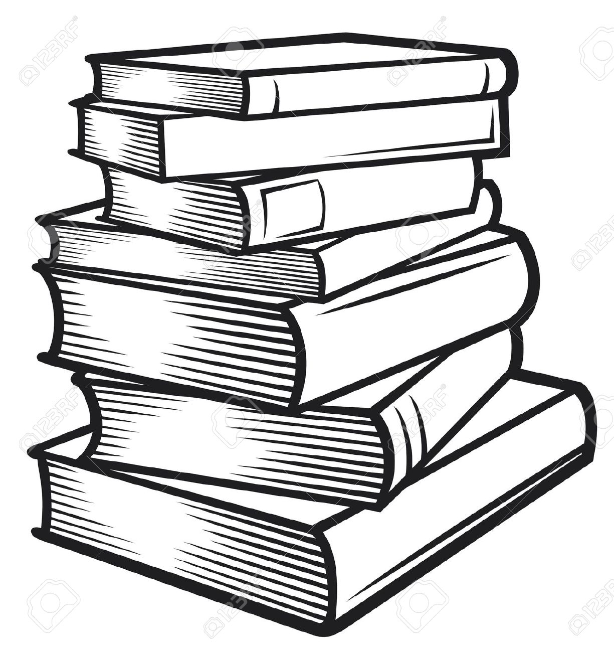 Black and white book clipart 18181