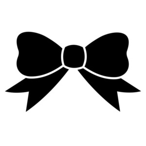 Bow Black And White Clipart