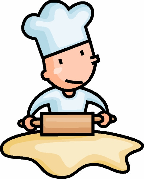 Boy Baking Cookies Clipart Image