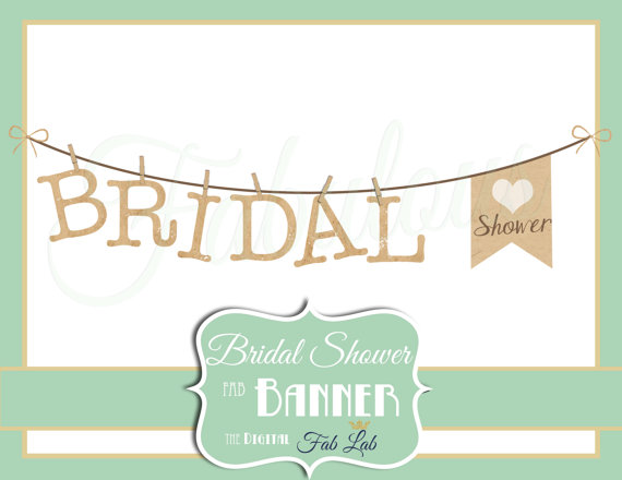 Bridal Shower Clipart Banner Digital Clipartdigitalfablab
