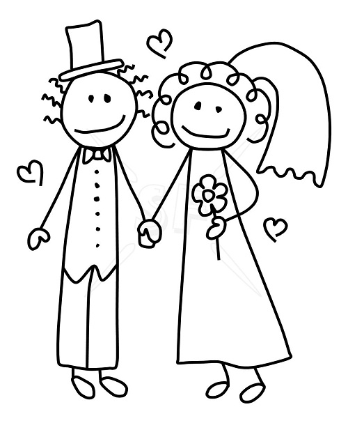 Bride And Groom Silhouette Wedding Clipart Picture Axiw The
