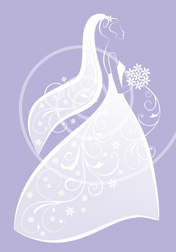 Bride In White Wedding Dress Bridal Shower Weddingillustree