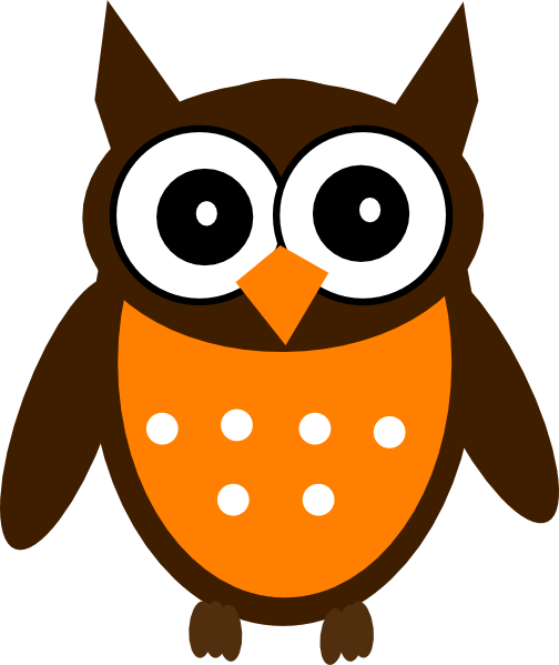 Brown Orange Owl Clip Art At Vector Clip Art Online