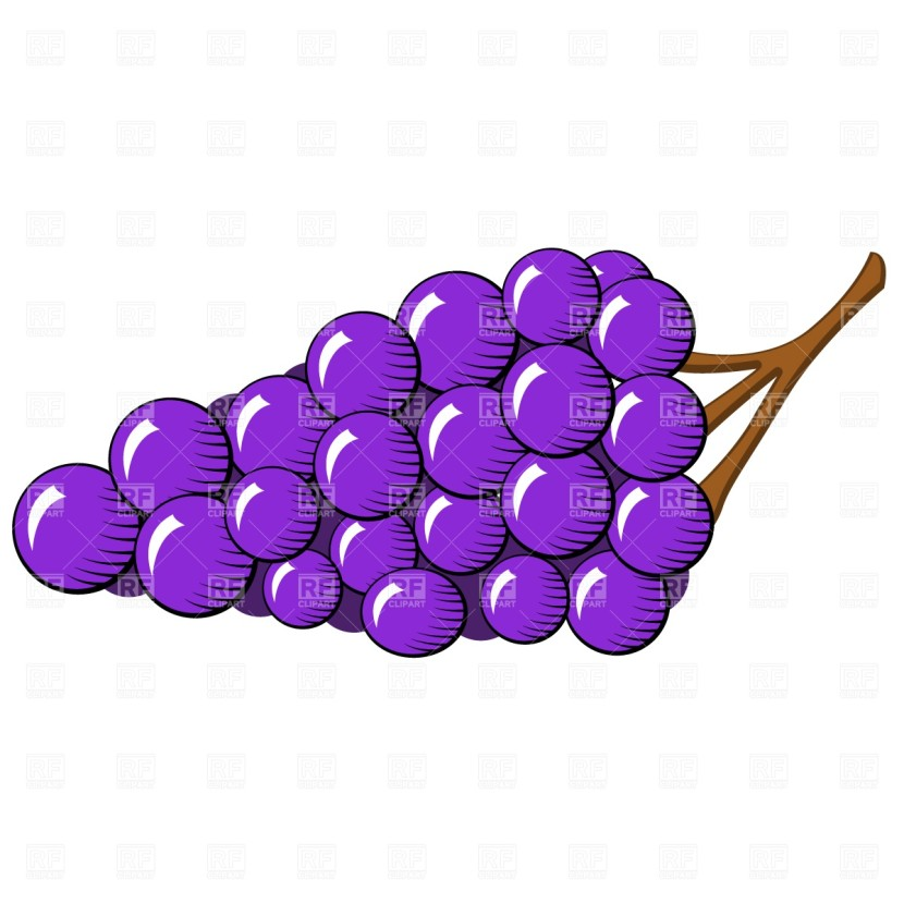 Bunch Of Grapes Vector Art Clipart Free Clip Art Images