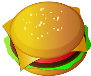 Burger Clipart Image Tasty Cheeseburger Hamburger