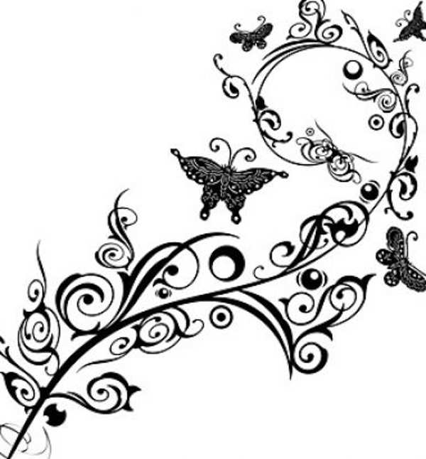 Flower Clipart Black And White - Clipartion.com