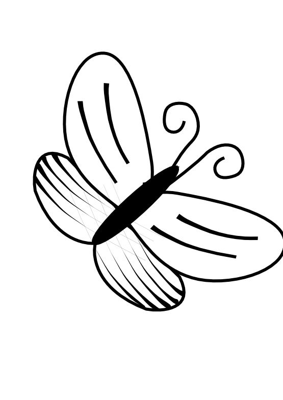 Butterfly Clip Art Black And White An Idea Pinterest Clip