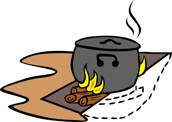 Campfire Cooking Clipart Free Clipart Images