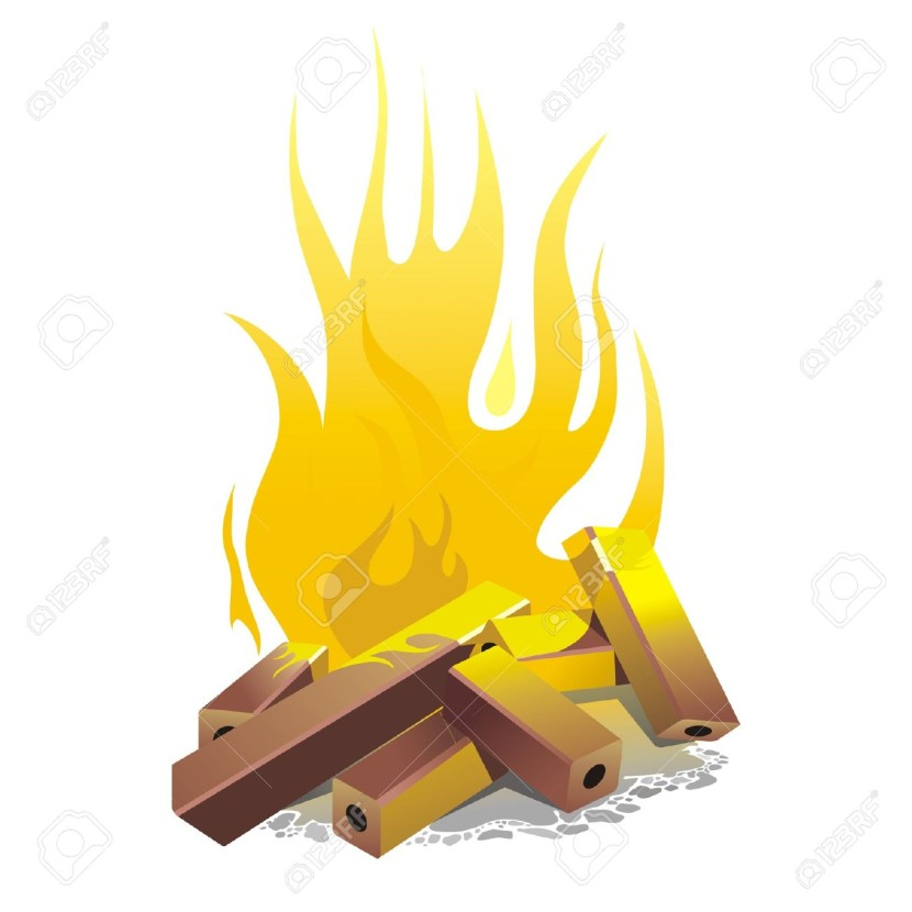 Campfire Vector Illustration Royalty Free Cliparts Vectors And