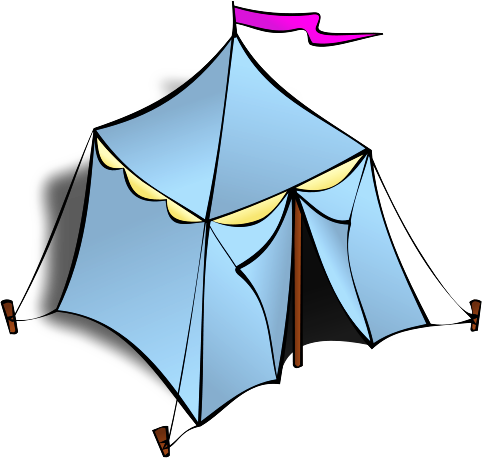 Camping Tent Clipart Black And White Free