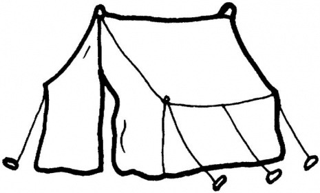 Camping Tent Clipart Black And White Funny Pics
