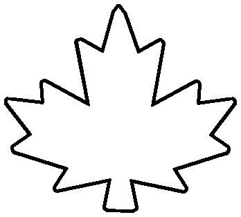 Canadian Maple Leaf Outline