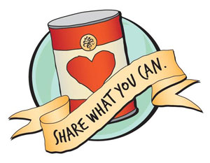 Canned Food Drive Clip Art