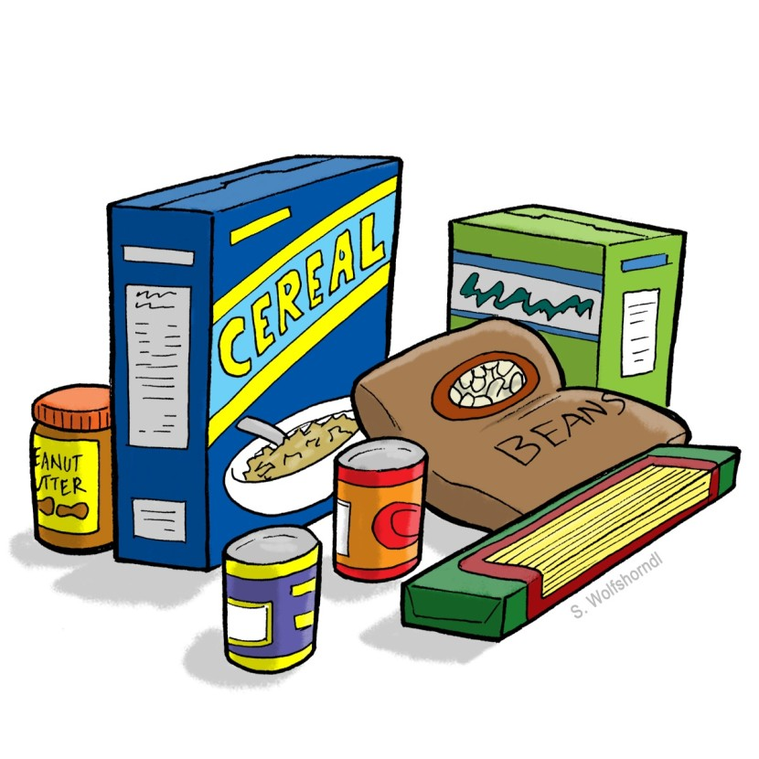 Free Clipart Canned Food Drive