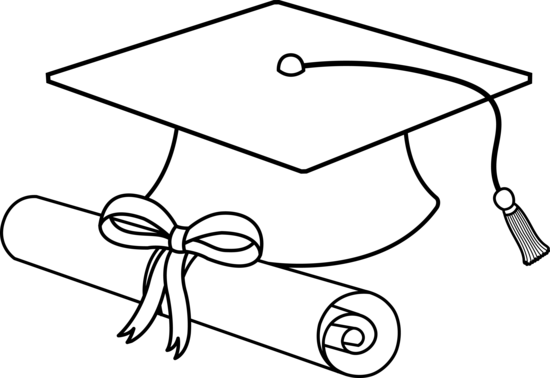 Cap And Diploma Drawing