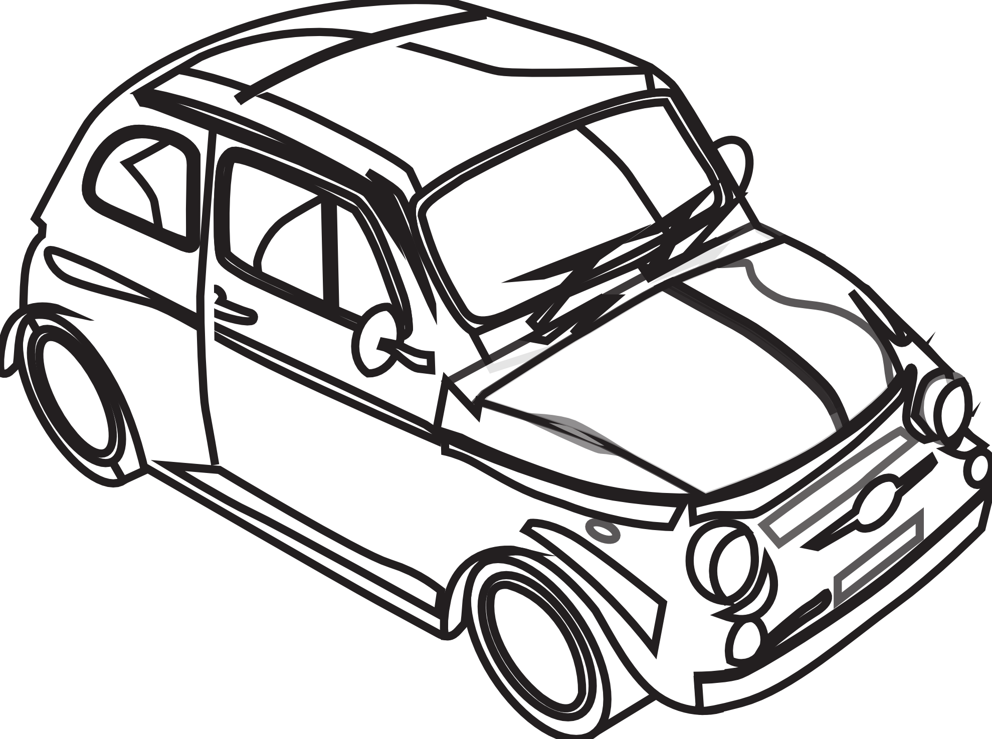 Car Clip Art Black And White Free Clipart Images