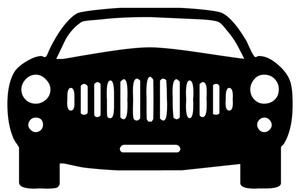 Car Clipart Image Black And White Icon Of The Front Of A Car