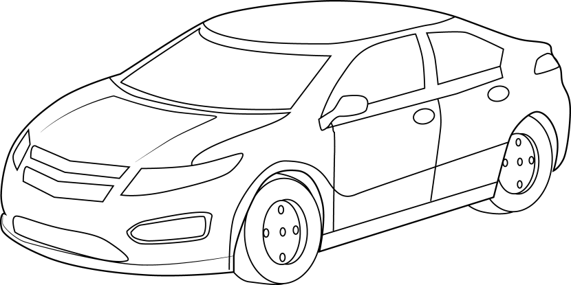 Car Clipart Top View Black And White Movdata