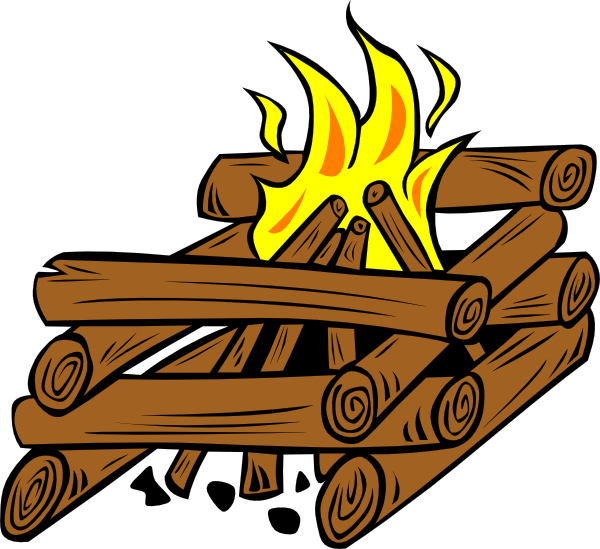 Cartoon Campfire Black And White Free Clipart Images