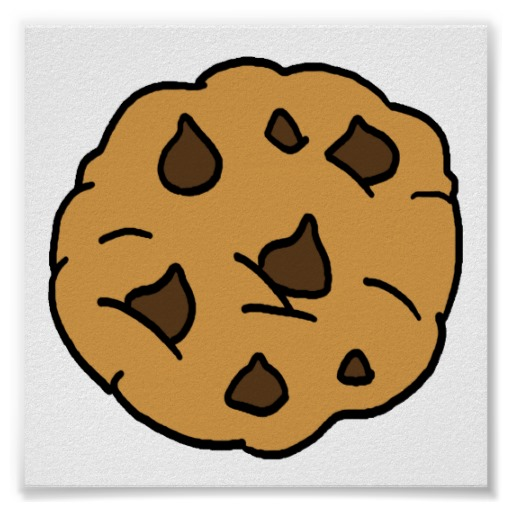 Cartoon Clipart Huge Chocolate Chip Cookie Dessert Poster Zazzle