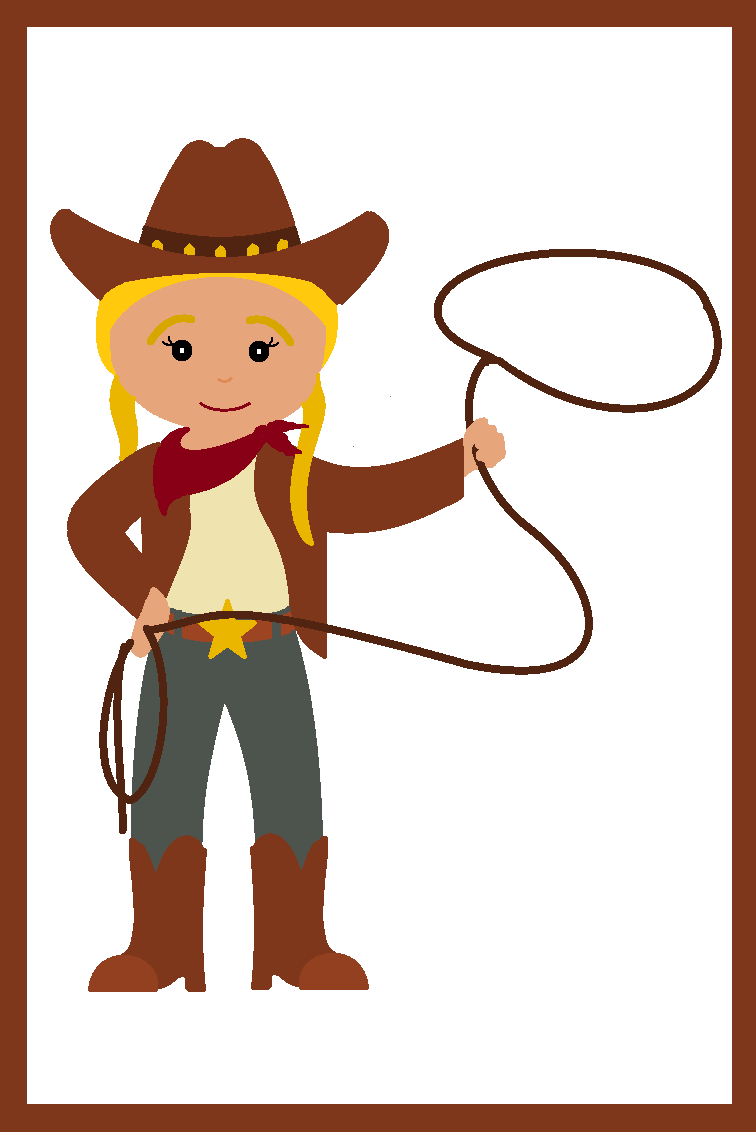 Cartoon Cowgirl Clip Art