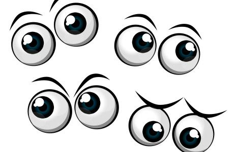 Cartoon Eyes Printables And Silhouettes And Templates