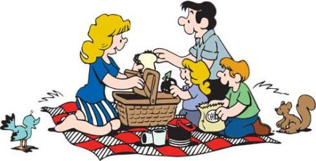 Cartoon Family Picnic Clipart Free Clip Art Images
