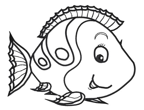Cartoon Fish Outline