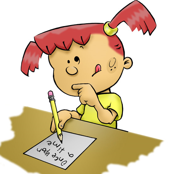 Cartoon Girl Writing Clipart Free Clipart