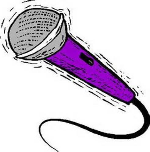 Cartoon Microphone Sitting On A Stand Royalty Free Picture Clipart
