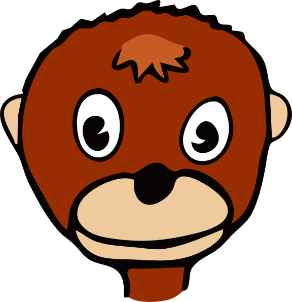 Cartoon Monkey Face Clip Art At Vector Clip Art Online