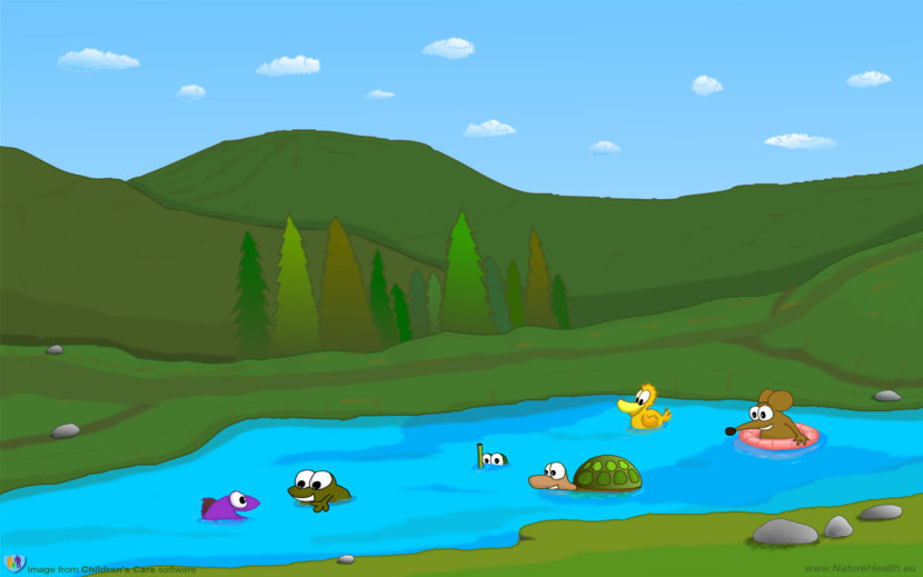 Cartoon Mountain Lake Clipart Free Clip Art Images
