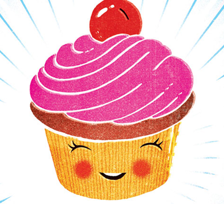 Cartoon Of A Cupcake