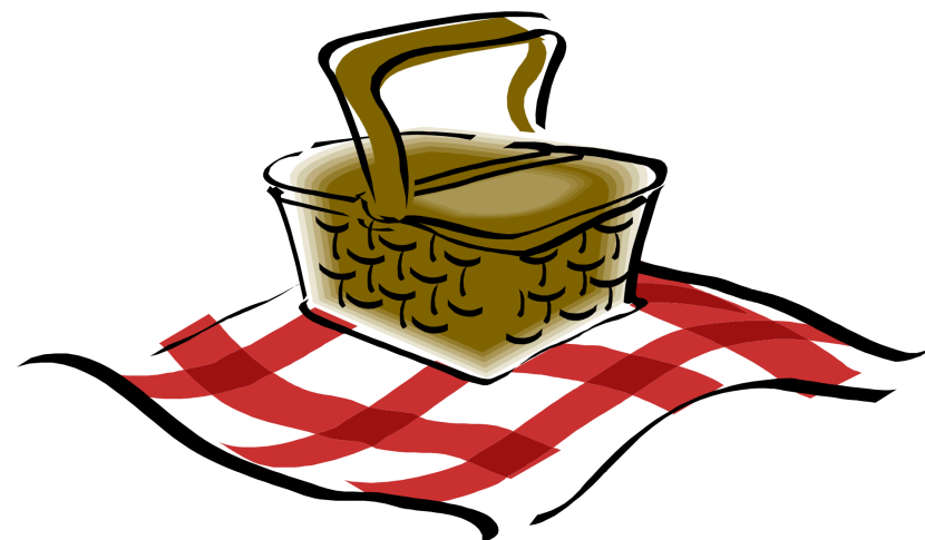 Cartoon Picnic Basket Png