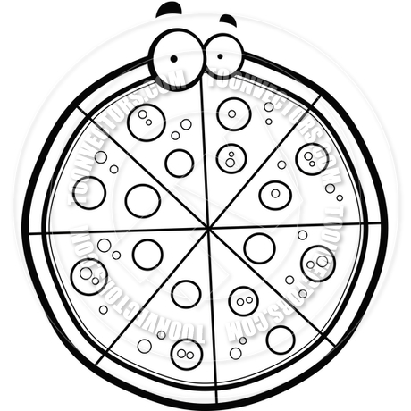 Pizza Clipart Black And White - Clipartion.com