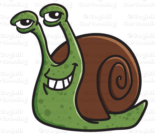 Cartoon Snail Clip Art Stock Illustration Coghill Cartooning