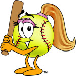 Cartoon Softball