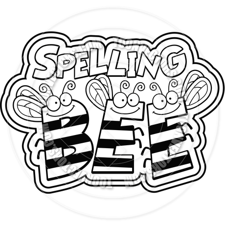 Cartoon Spelling Bee Black Free Clipart Images