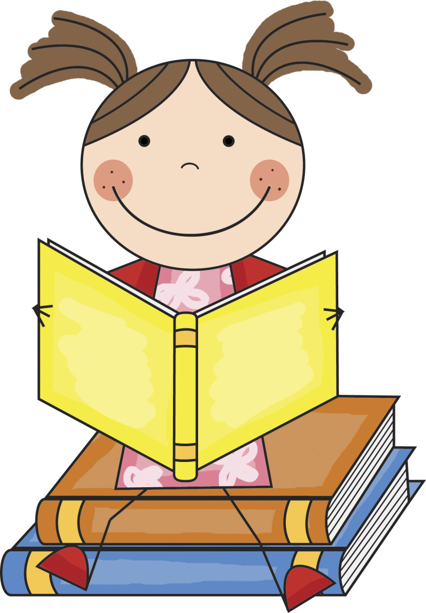 Cartoon Student Reading A Book Clipart Free Clip Art Images