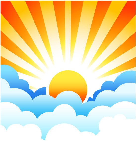 Cartoon Sun And Clouds Clipart Free Clip Art Images