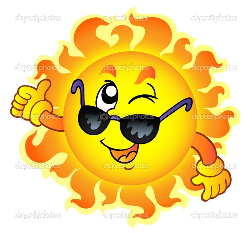 Cartoon Sun With Sunglasses Clipart Free Clipart