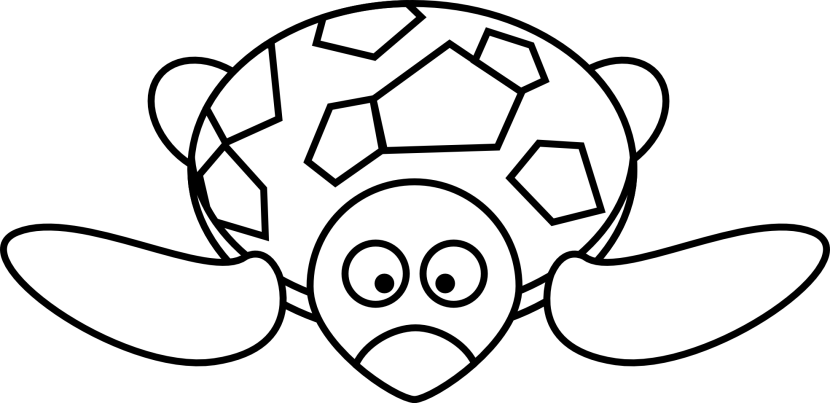 Cartoon Turtle Black White Free Clipart Images