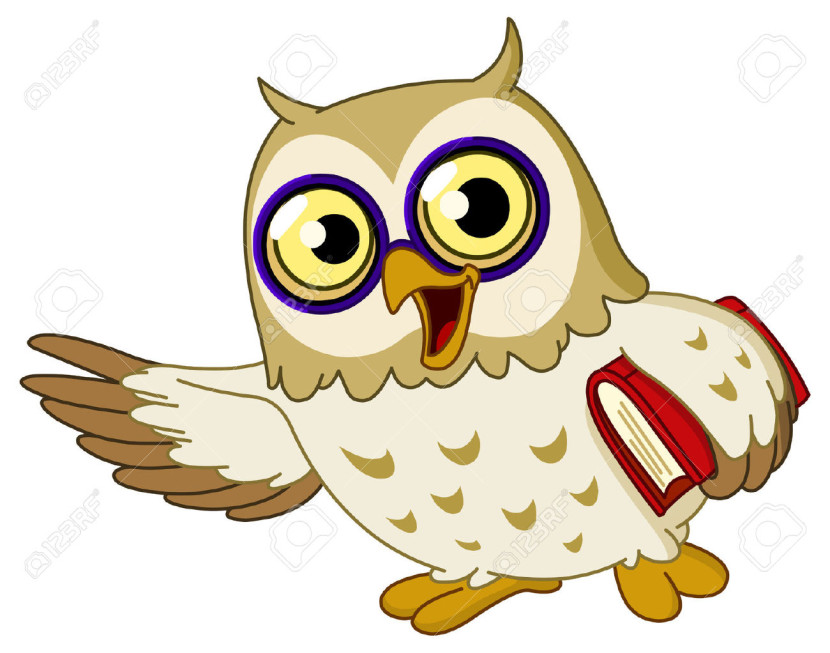 Cartoon Wise Owl Teaching Royalty Free Cliparts Vectors And