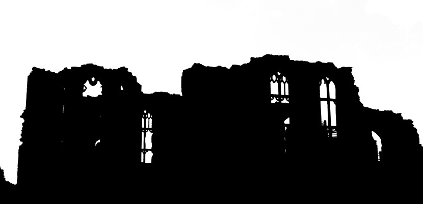 Castle Silhouette In Camera Obscura