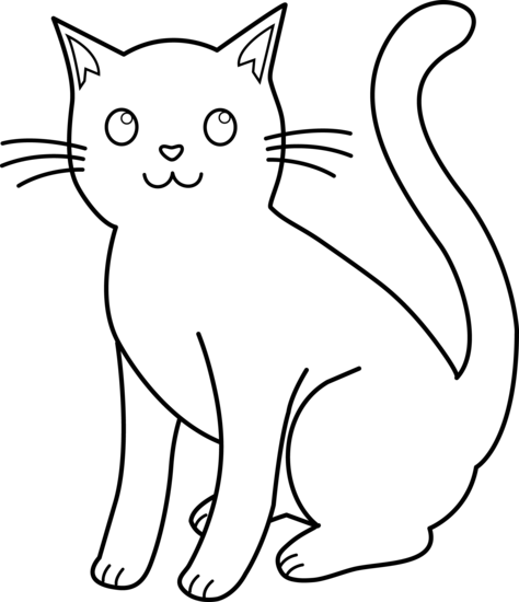 Cat Clip Art Black And White Free Clipart Images