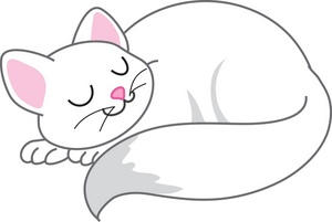 Cat Clipart Image Happy Cat Sleeping
