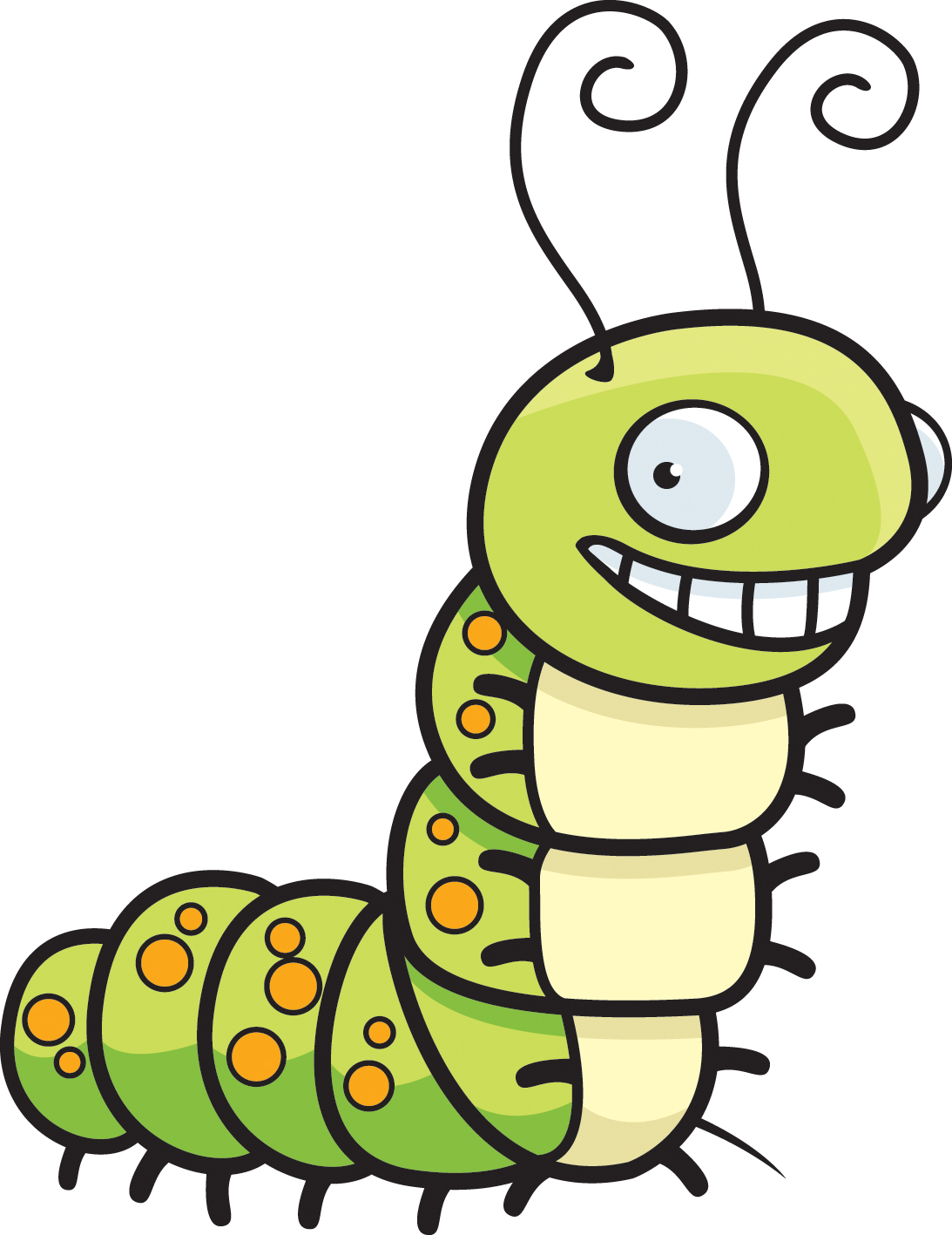 Caterpillar Clipart Black And White Free Clipart