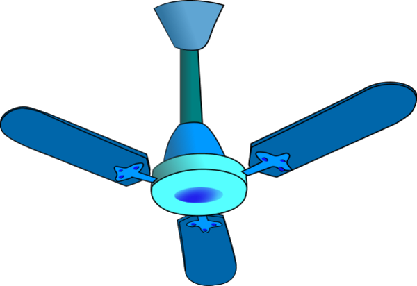 Ceiling Fan Vector Clip Art