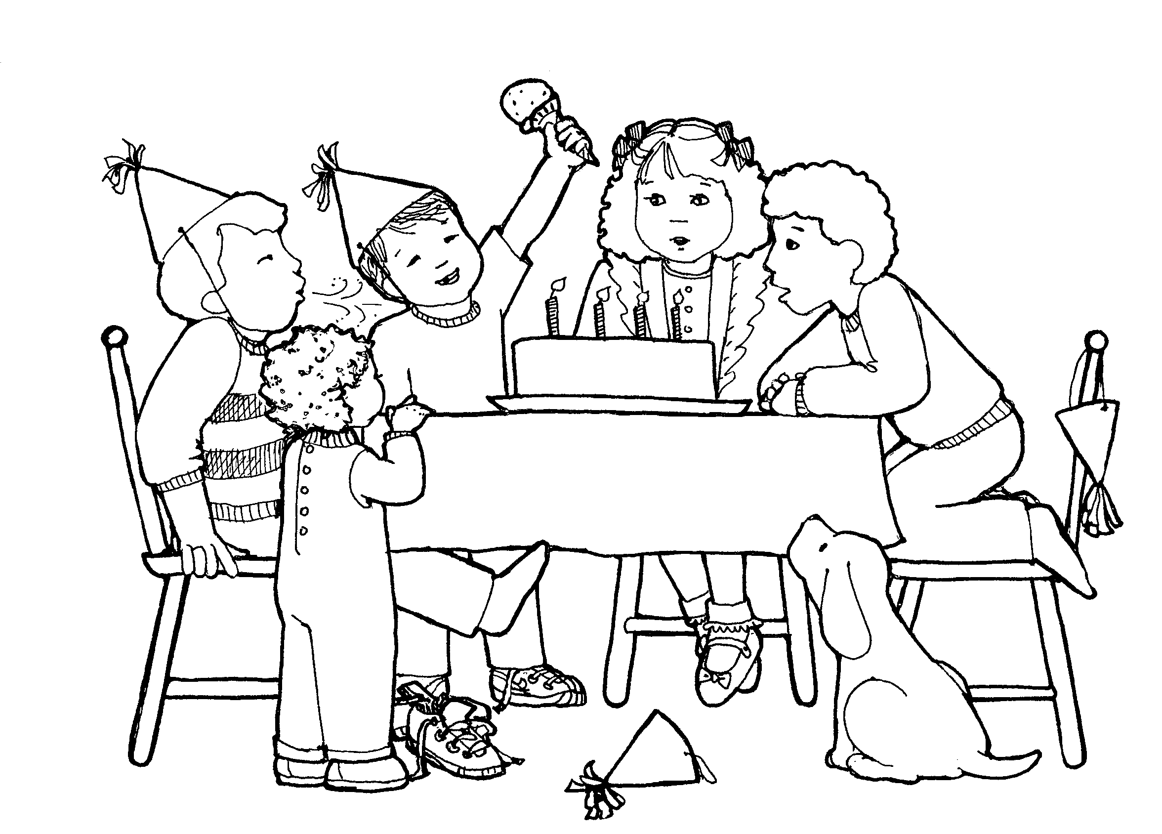 Celebration Clipart Black And White Gallery
