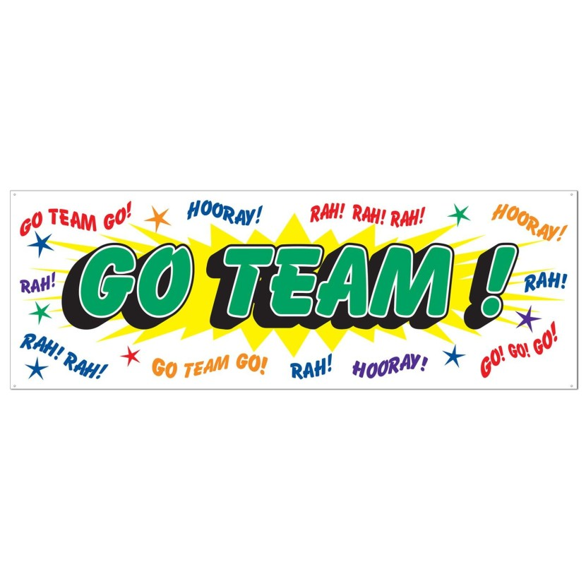 Cheap Go Team Sign Banner At Go4costumes Com